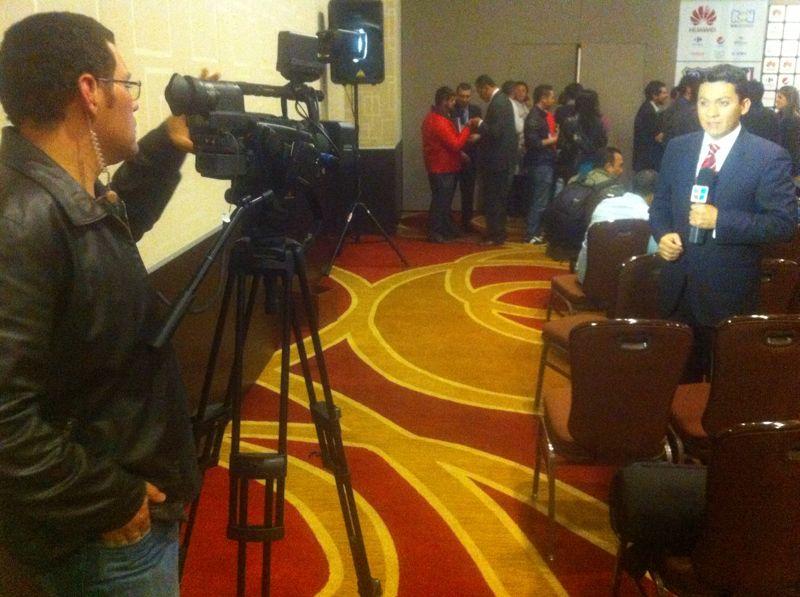 Gilberto Rivera Roldan - Equipo Freelance de Contacto Deportivo de la cadena Univision en Bogotá, en 2012